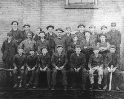 Wickwire Brothers Factory Workers 1884