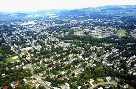 An aerial photo of Cortland.