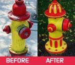 Before and After Hydrant