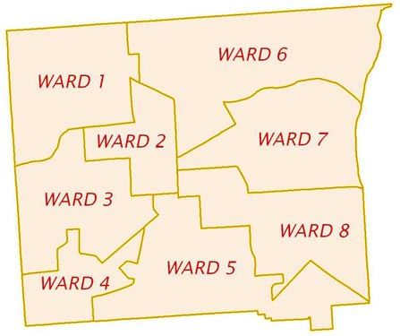 Cortland City Ward Map