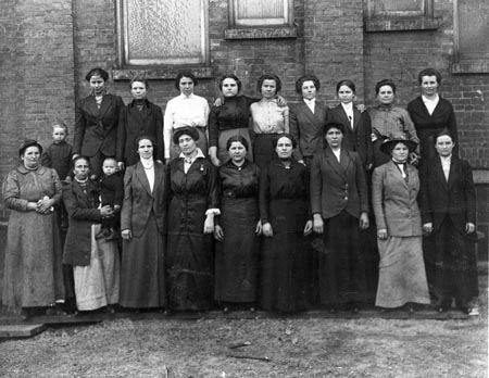 1918 Photo of Ukrainian Women Employees of Wickwire Brothers